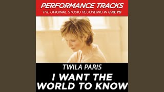 Watch Twila Paris I Want The World To Know video