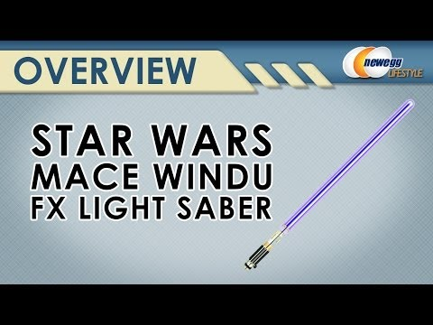 Star Wars Mace Windu Fx Light Saber Overview - Newegg Lifestyle
