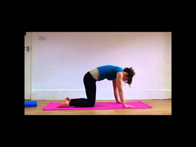 Pregnancy Yoga Sciatica Relief.wmv