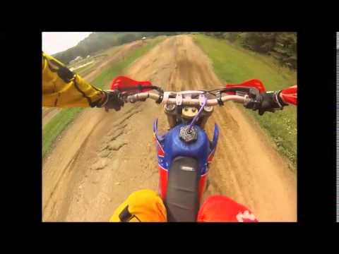 Bike Crash at Montrose, PA Mx 573 Edited Version