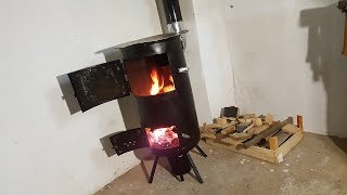 Homemade Budget STOVE for WORKSHOP !?