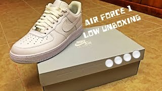 NIKE AIR FORCE 1 LOW UNBOXING! HD