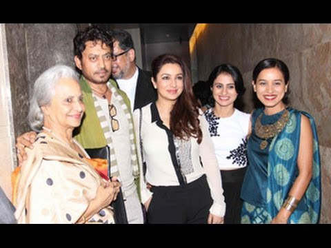 Irrfan Khan, Tisca Chopra, Waheeda Rehman at 'Qissa' Special Sreening at Light Box