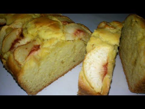 Домашний пирог с персиками!!! (нежный, воздушный и ароматный!!!)