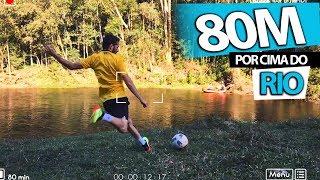 BATI O RECORD DE DISTÂNCIA CHUTANDO POR CIMA DE UM RIO! (80 METROS) {BZK} 4K