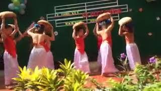 """Múa """" Cái bống """" tổng kết năm học 2013 - 2014 trường mầm non Minh quang"""