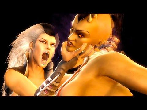 Mortal Kombat 9 - Sindel Migraine Fatality on all Characters 4K 60FPS Gameplay Fatalities Mods