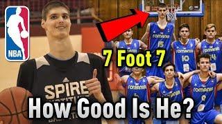 "How GOOD Is 7'7"" Sophomore Robert Bobroczky ACTUALLY? Will He Make The NBA?"