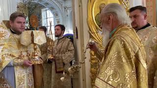 Божественная литургия в Спасо-Преображенском соборе