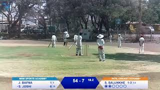 1st Late SIR Vijay Hazare U-12 Cricket Tournament 2019 PATIL CRICKET ACADEMY V/S MGM SPORTS ACADEMY