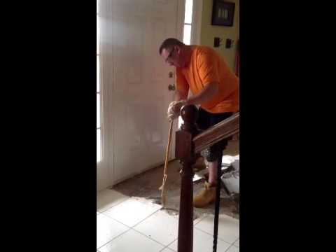 Remove ceramic tile from wood subfloor