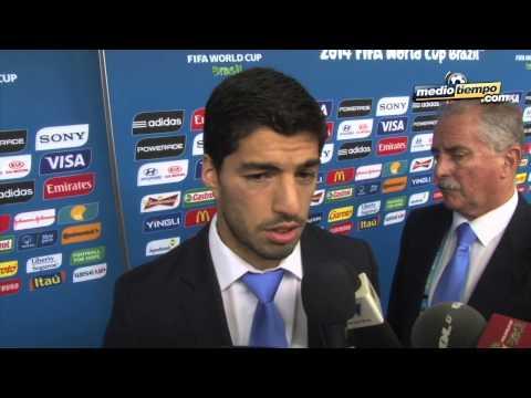 Luis Suárez negó haber agredido a Giorgio Chiellini