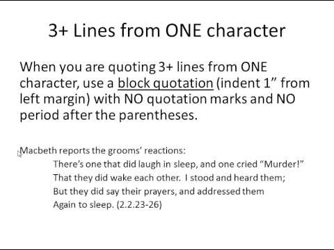 How to quote lines from a poem in an essay mla