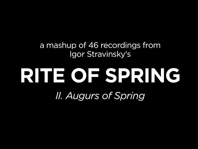 "46 Recordings of Stravinsky's ""Rite of Spring"" in 3 Minutes"