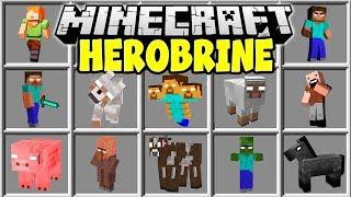 Minecraft HEROBRINE MOD | SUMMON HEROBRINE AND TRY TO SURVIVE!!