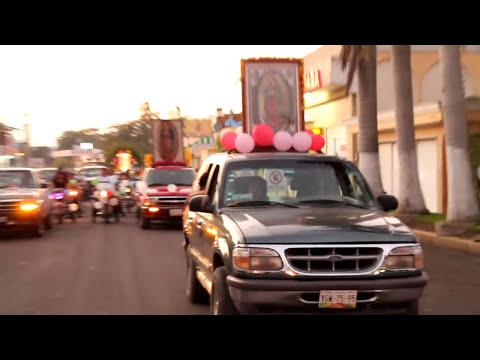 Peregrinaciones a la Virden de Guadalupe en Ciudad Cardel, Veracruz.
