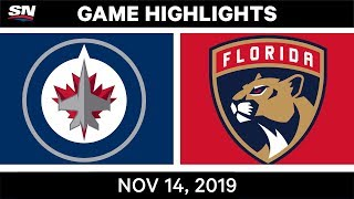 NHL Highlights | Jets vs Panthers – Nov. 14, 2019