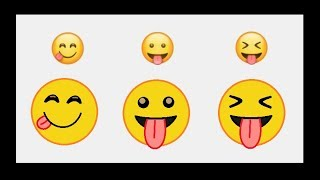 How to draw Whatsapp Smile Emoji Art in MS Paint - Step by Step - ComeTube
