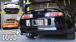 Toyota Supra Exhaust Install! (HKS Hi-Power)