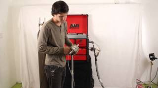 Orbital Welding Demo with Arc Machines AMI 415 Orbital Power Source with Open Heads