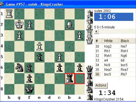 Chessworld.net : Blitz #261 vs. sutek (2082) - English Opening : three knights system (A27)