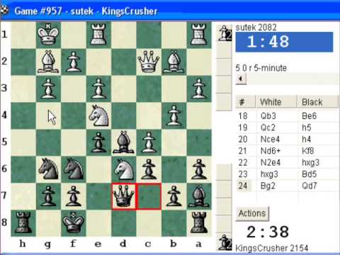 Chessworld.net : Blitz #261 vs. sutek (2082) - English Opening : three knights system (A27)