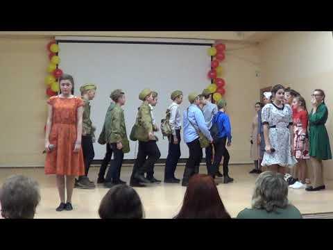 """Конкурс инсценированной песни  8 """"В"""" класс, Гран -  При школьного фестиваля песни"""