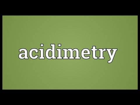 Header of acidimetry