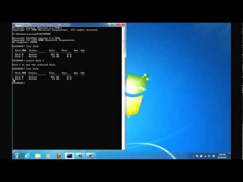 Create Bootable USB Flash Drive using Command Prompt to install Windows 7