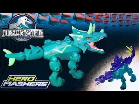 Opening: Jurassic World TRICERATOPS Hero Mashers (with Stegosaurus parts)