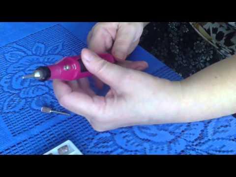 Как вставить насадку на машинку для маникюра