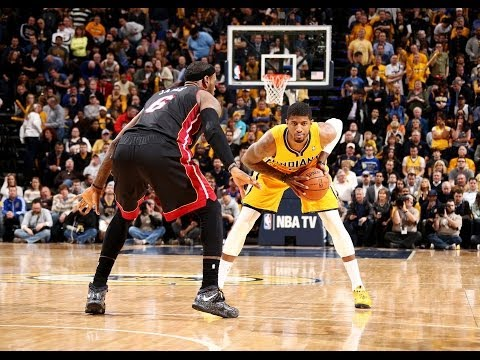 Paul George Mic d Up During Dunk on LeBron James
