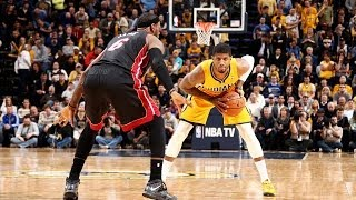 Paul George Mic'd Up During Dunk on LeBron James