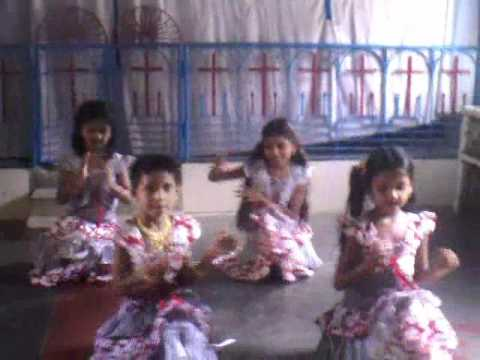 Yesunadevudu -children Action. By Angle School- Telugu Jesus Songs video