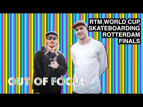 Out of Focus RTM World Cup Skateboarding Finals Ivan Monteiro, Sewa Kroetkov, Vincent Milou