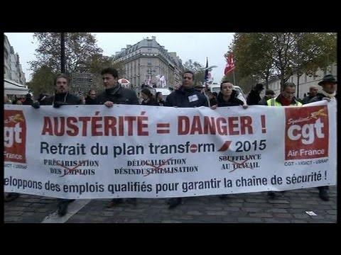 Plusieurs milliers de salariés français dans la rue pour refuser l'austérité
