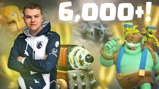 SPARKY = OP! 6,000+ Goblin Giant Sparky Deck LIVE Ladder Gameplay - Clash Royale