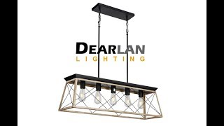 Industrial Edison Bulb Rustic Chandelier | DEARLAN LIGHTING
