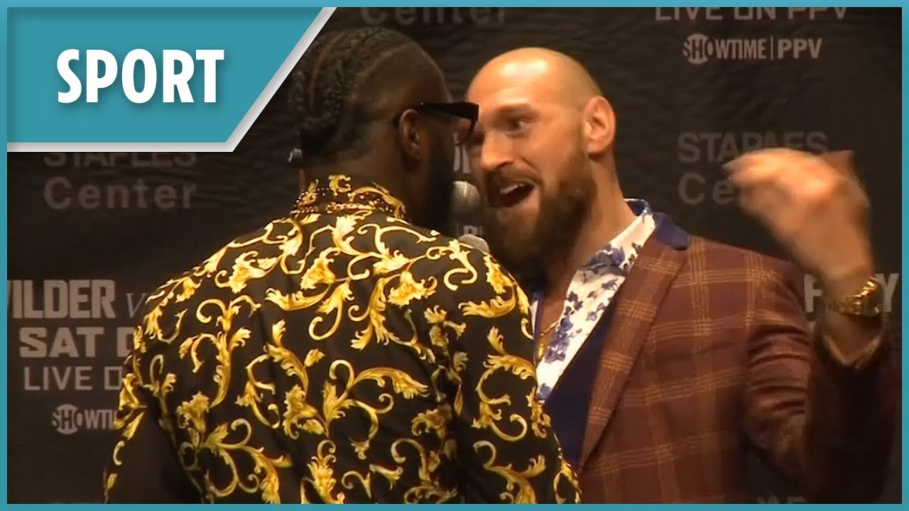 Fury and Wilder brawl AGAIN at press conference