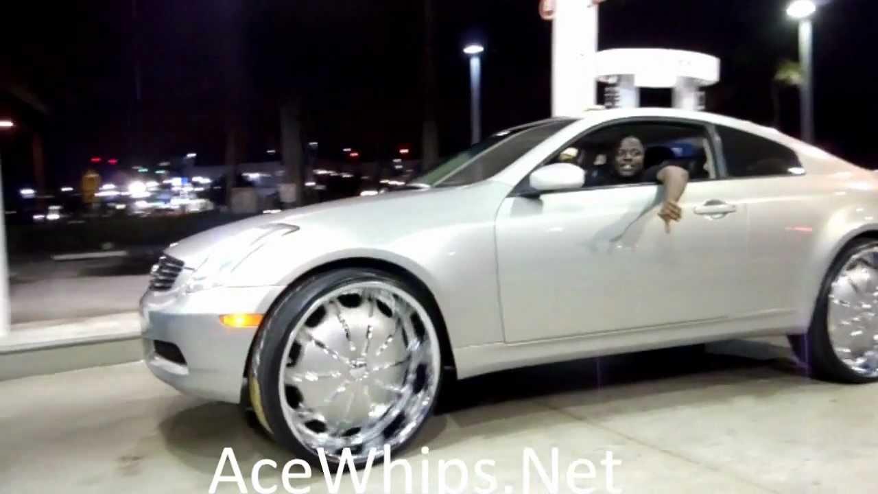 "AceWhips.NET- Infiniti G35 Coupe on 26"" Rockstars - YouTube"