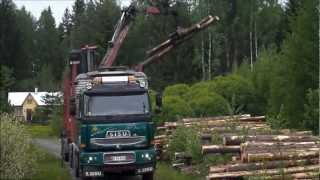 SISU, E18 cat 630 Timber truck