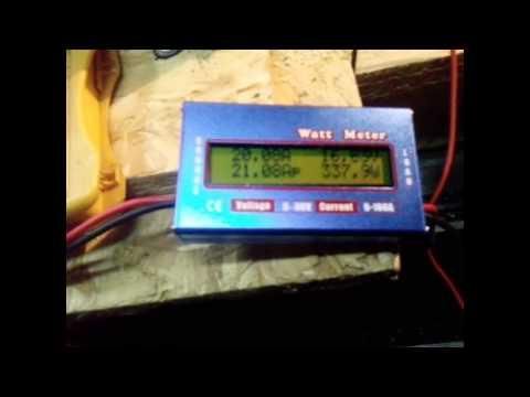Испытание генератора на токарном станке. 12v