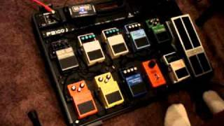 Boss Pedalboard test