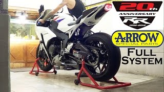 Honda CBR 1000 RR 2012 Exhaust Arrow Full System SOUND (istimewa)