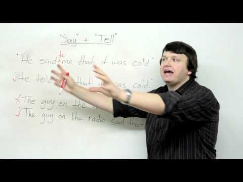 SAY & TELL – Reported Speech