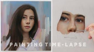 "PORTRAIT PAINTING TIME-LAPSE || ""Giorgia"" Oil on canvas"