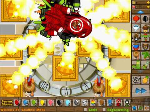 BTD5 10 ZOMGs VS 10 Sun God Temples