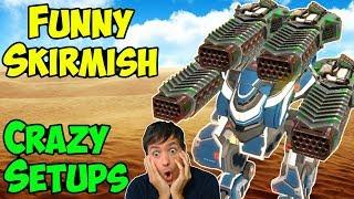 War Robots Thunder Patton & Ember Galahad - Funny Skirmish Gameplay