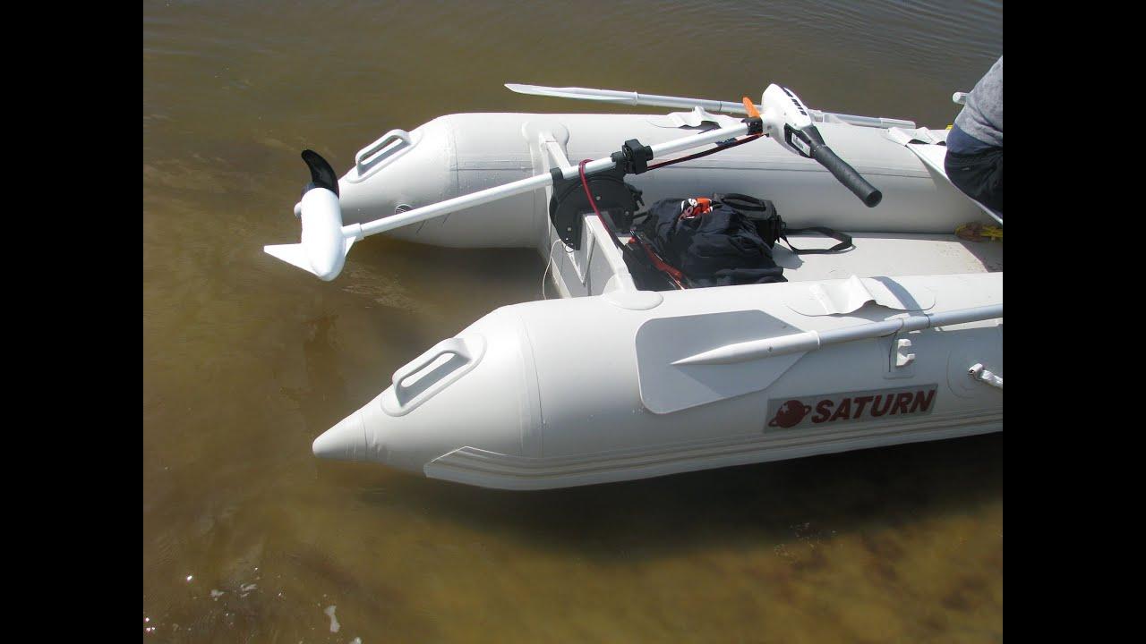 Minn Kota 50 Lbs Trolling Motor On Inflatable 16ft Saturn