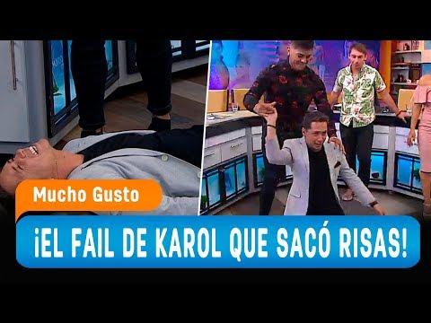 Chascarro de Karol Lucero imitando a Karen y Ricardo - Mucho Gusto 2019